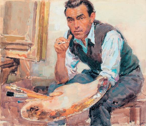 A.D. Romanychev, portrait. 1957