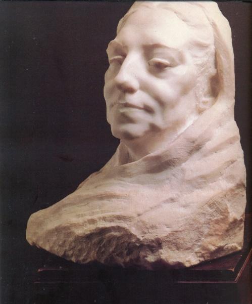 Portrait of L.I. Sidorova (1849-1928). Marble. State Tretyakov Gallery