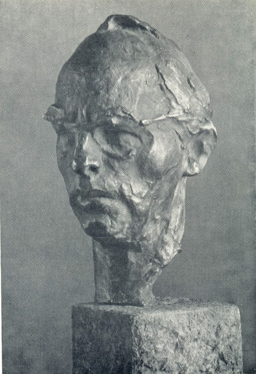 Artist O.G. Bordey. 1967. Bronze, granite