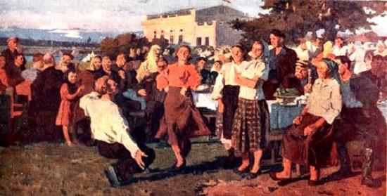 Painting by Soviet Russian artist Vyacheslav Tokarev (July 26, 1917 - April 22, 2001)