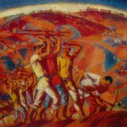 Soviet Uzbek artist Zhavlon Umarbekov