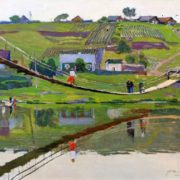 Bridge. 1976 painting