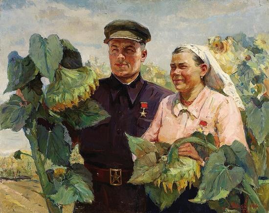 Painting by Soviet Ukrainian painter Elena Yakovenko (1914-1999)