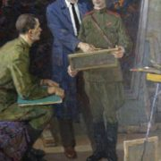 In the artist's studio (self-portrait), 1965