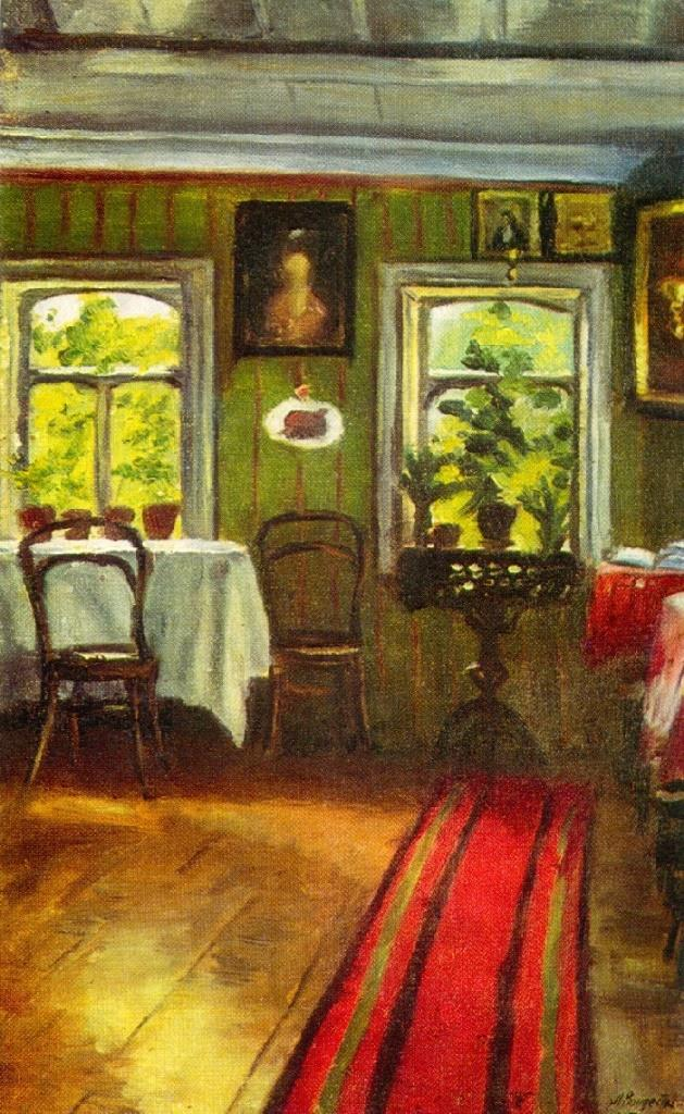 In the old house. 1917. Oil on canvas