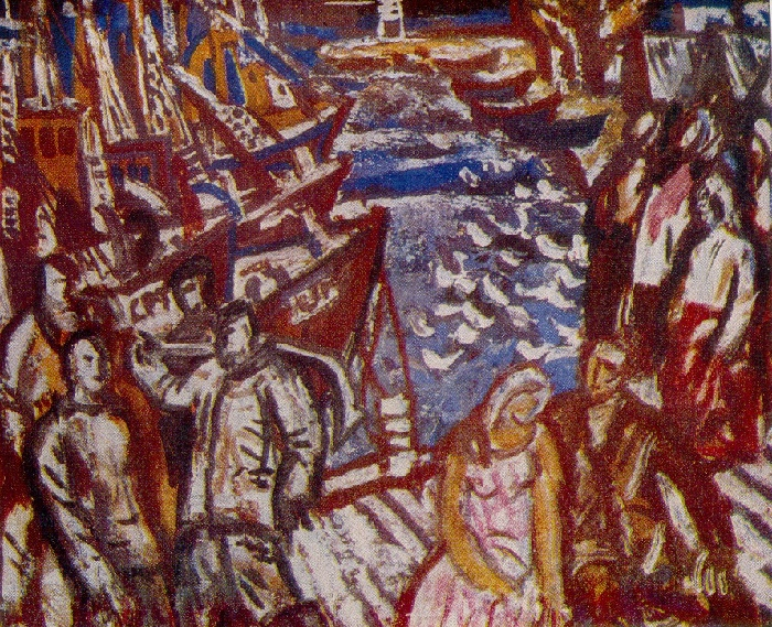 In the port. Sketch. 1975