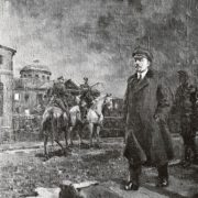 Lenin goes to Smolny. October 24, 1917