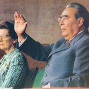 Leonid Brezhnev announcing the opening of the XXII Olympic Games in Moscow. 1980