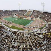 Luzhniki stadium in Moscow. July 1980