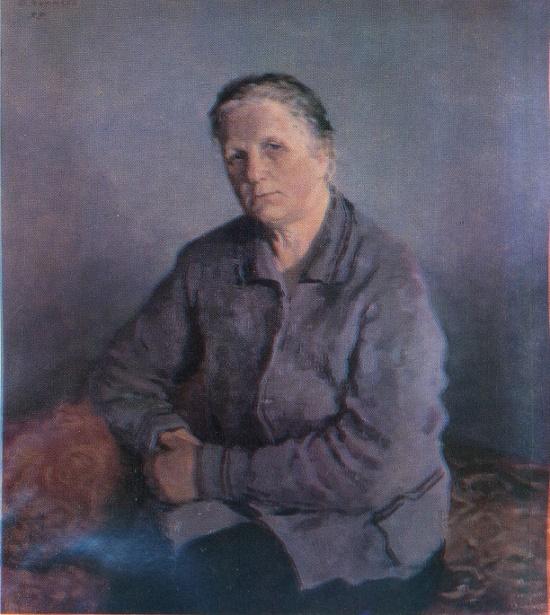 Mother's portrait. 1955