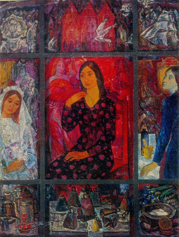 Nine pictures. 1972. Oil on canvas