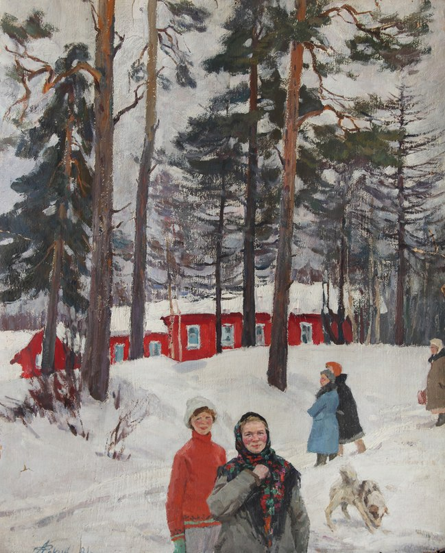 On the Academic dacha. 1981