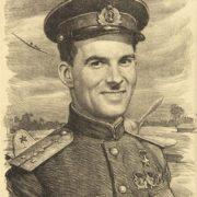 Pilot's portrait. 1943 (autolithography)