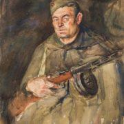 Platoon Commander Alexander Georgievich Glyanka, 1943