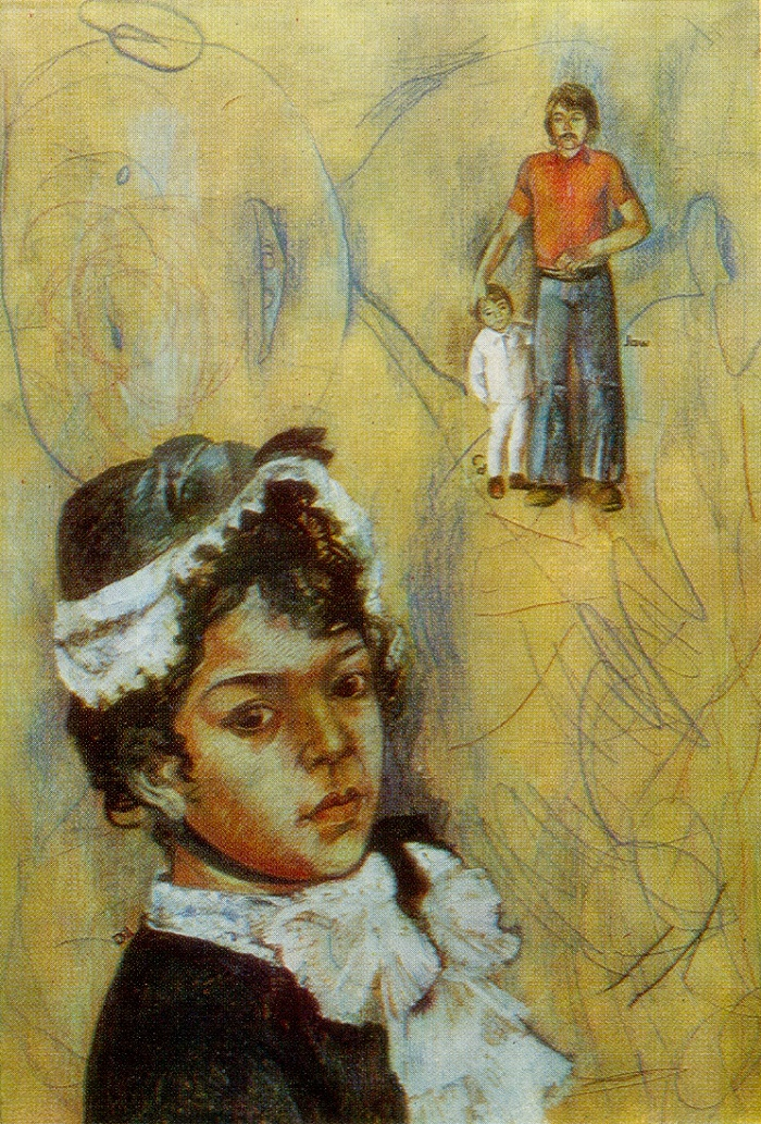 Portrait of Dilya in the spirit of Renoir. 1977