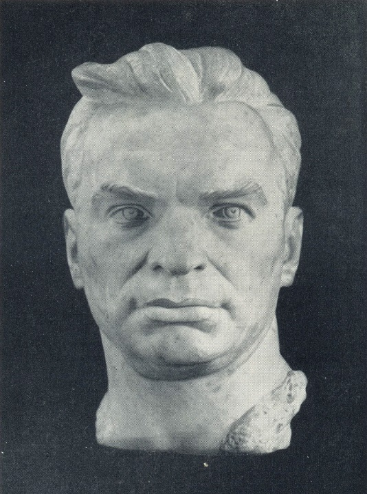 Portrait of VP Chkalov. 1953. Marble
