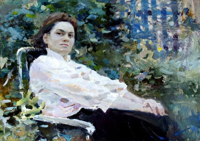 Portrait of Z.Neyasova, artist's wife