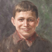 Portrait of son Valera. 1958