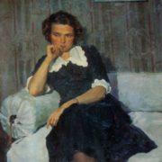 Portrait of the artist M. A. Kozlovskaya. 1954