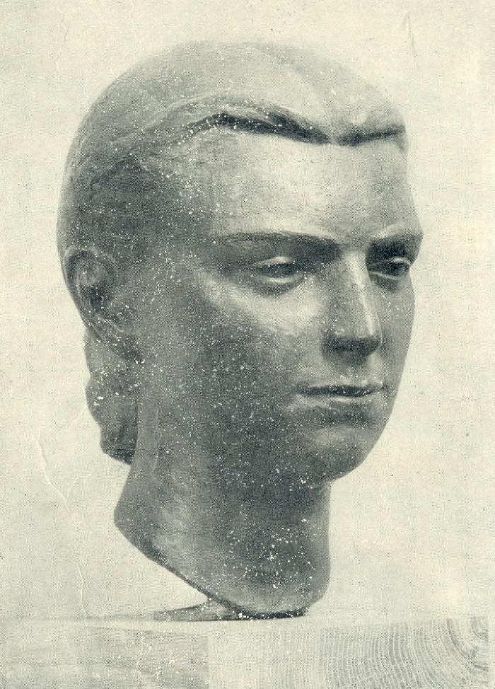 Portrait of the artist. 1949. Cast in bronze in 1958. Vilnius. State Art Museum