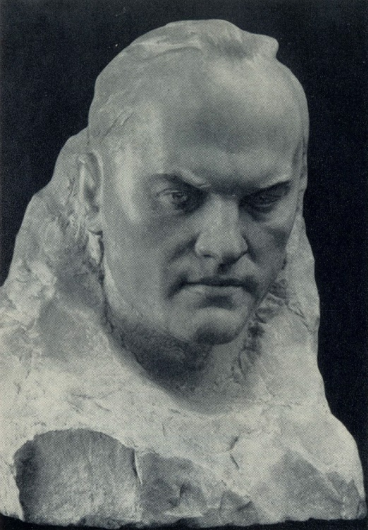 Portrait of the painter Varlamov. 1959. Marble