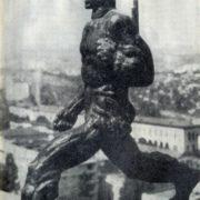 Revolution. A statue. 1966