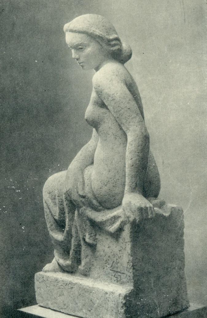 Sculpture for a fountain. Sketch. Terracotta. 1947