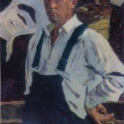 Self-portrait. 1962. Soviet artist Boris Vasilievich Korneyev