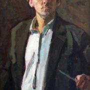 Self-portrait. Soviet Russian artist Vyacheslav Tokarev