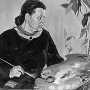 Self-portrait. Soviet artist Vasily Andreevich Neyasov (July 14, 1926 - October 7, 1984)