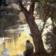 Silence. 1936. Paper, gouache. Soviet painter Alexander Rozhdestvensky