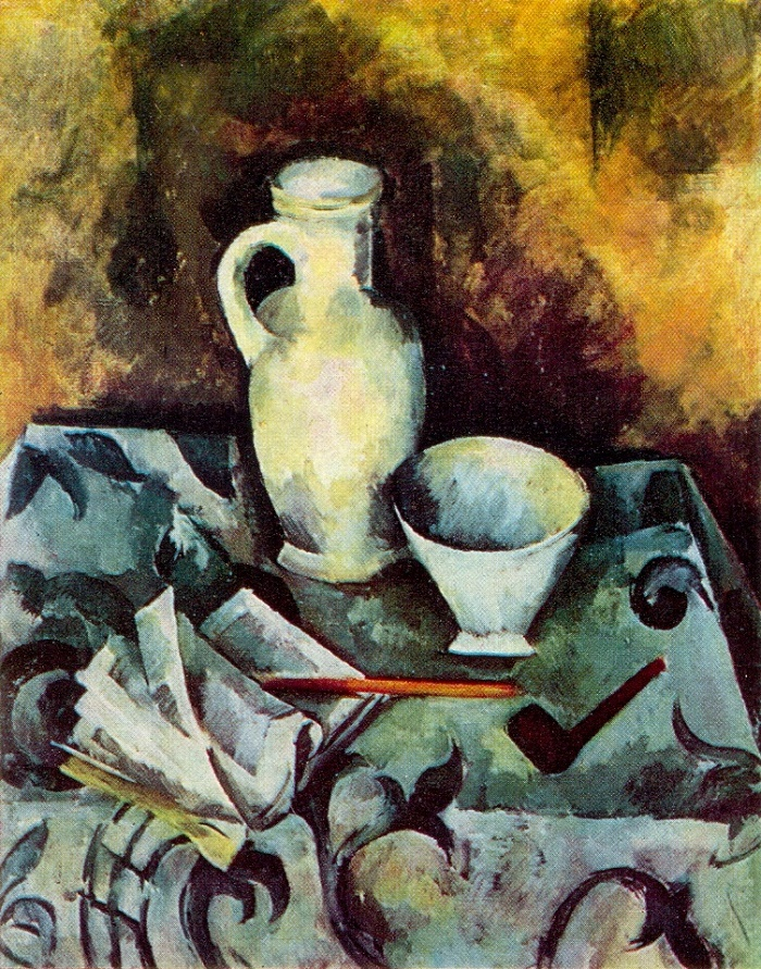 Still life with white piala (bowl). 1921