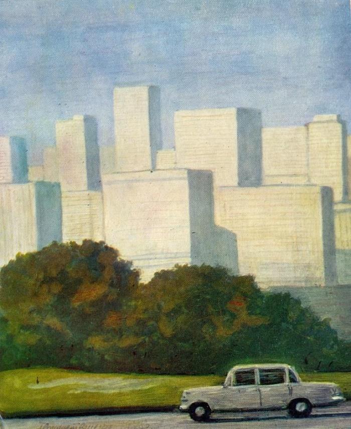 Symphony of the big city. 1978. Paper, gouache