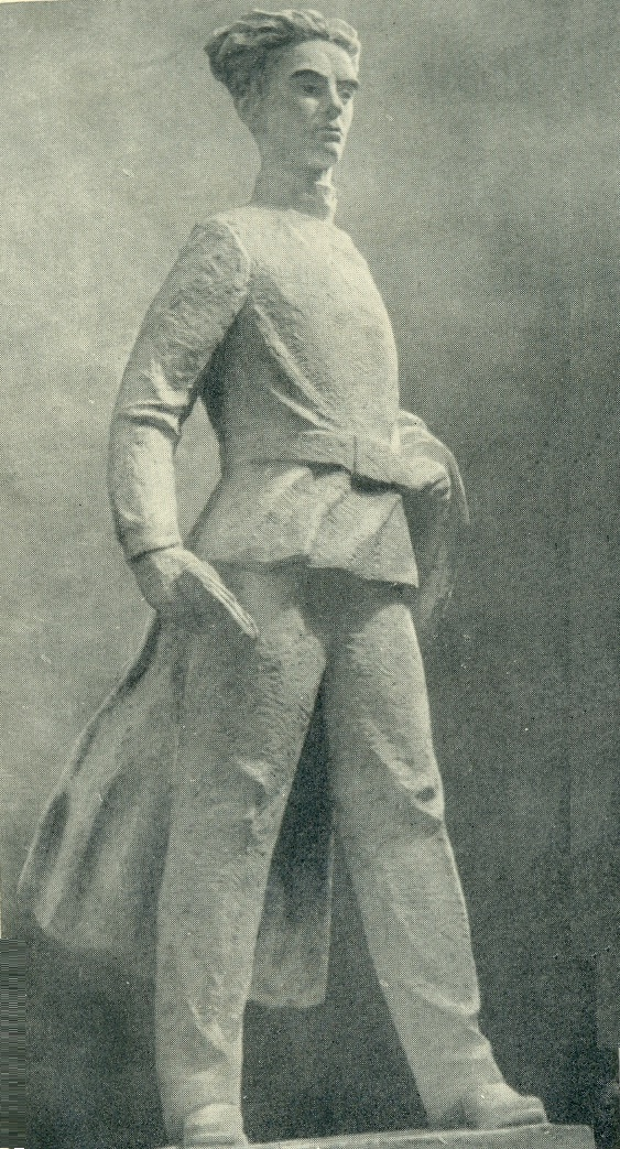 The model of the monument to the poet Y. Yanonis. Gypsum. 1947-1960