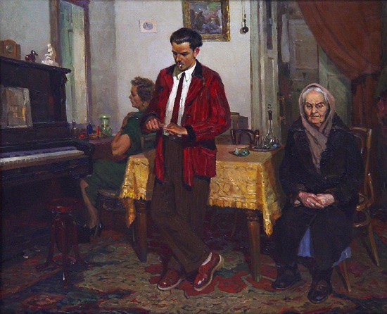 Soviet Russian artist Alexandr Burak (July 10, 1921 - April 29, 1997)