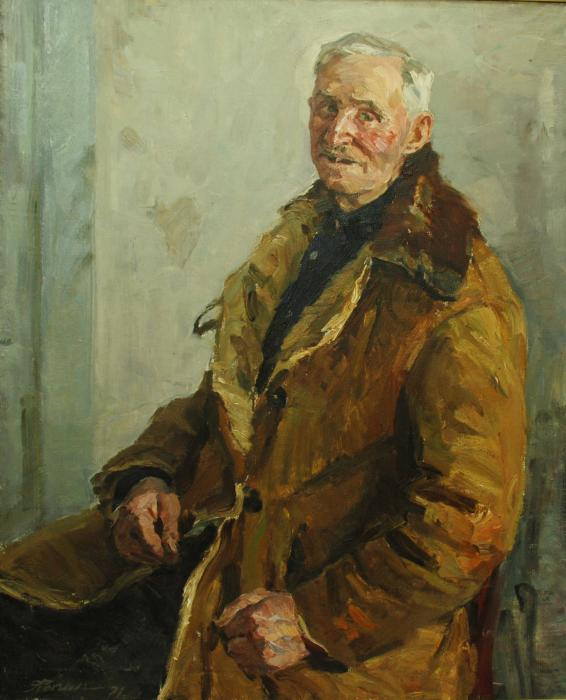 Vasily Fedorovich, a veteran of three wars, 1971