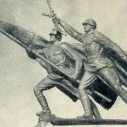 Victory. The sculptural group of the Victory Monument in Kaliningrad. Bronze. 1945-1946