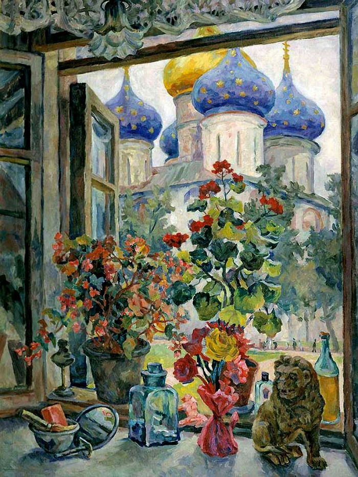 View at the Trinity-Sergius Lavra. 1947