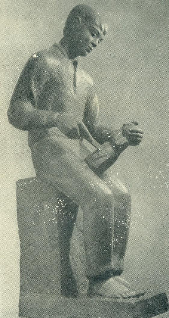 Vincukas (the Boy-carver). Gypsum, 1937-1938. Kaunas Art Museum