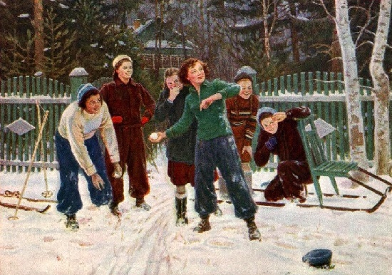 We have won. Painting by Soviet artist Yuri Mikhailovich Neprintsev (1909-1996)