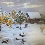Soviet Russian landscape painter Nikolay Krymov