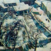 Yard in winter. 1976