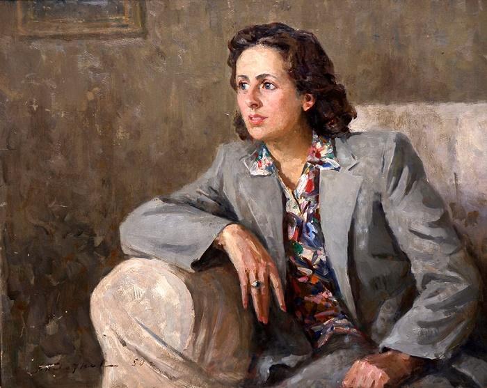 Young actress V.Minkovskaya, 1950