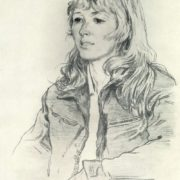 Portrait of geologist I. Kiseleva. 1970. Autolithograph