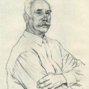 old bolshevik V.P. Vinogradov. 1970. Autolithograph