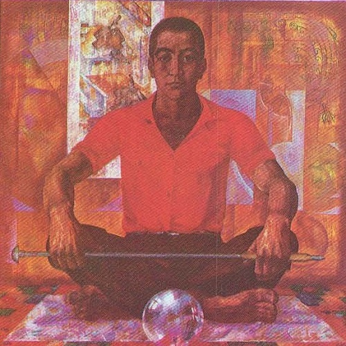 Mansur. Portrait of a Worker of communist labor glassblower of the plant 'Mikond' M. Umarbekov. Oil. 1978