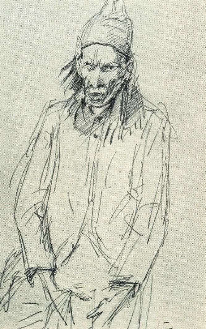 A dervish, sketch. 1957