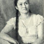 Actress Sara Ishanturaeva. 1947