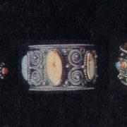 Bracelets. Zern, gavars, stones. 1957