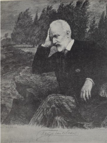 Chaikovsky in the Ukraine. Etching